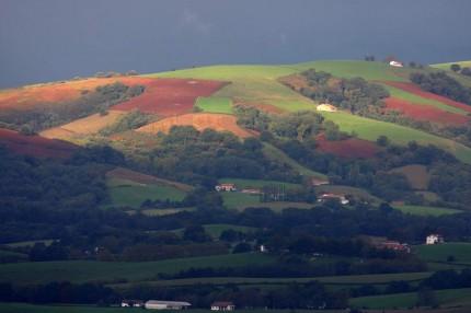 Ciel chargé au pays basque