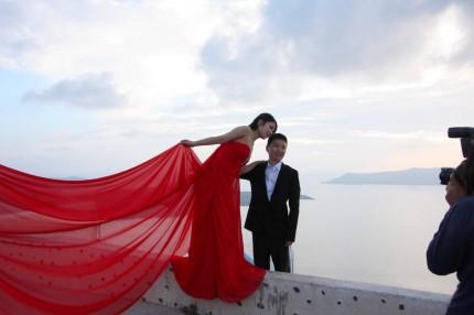 Les mariés de Santorin