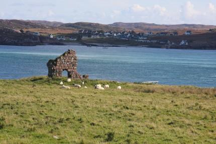 Depuis Iona vue sur l'île dev Mull