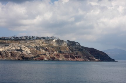 Arrivée à Santorin