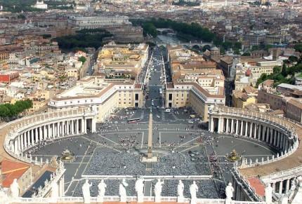 Sur le toit du Vatican