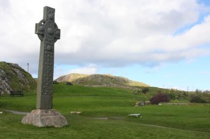 Croix celtique de l'abbaye de Baile mor
