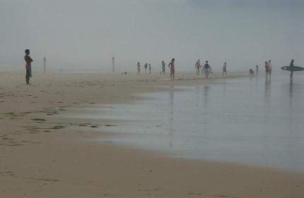 Brume du soir sur Biscarosse plage