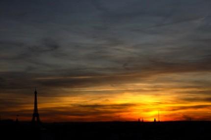Soleil couchant sur la Tour…