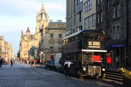 Soleil du soir sur Edinburgh